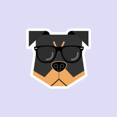 Rottweilers Hipster Funny Cute Animals Dog Decal Sticker