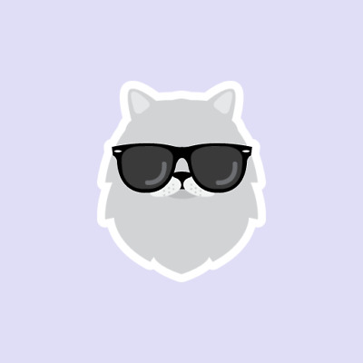Persian Hipster Cat Funny Cute Animals Kitten Decal Sticker