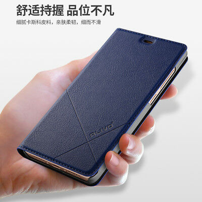 Luxury Magnetic Slim Leather Wallet Card Slot Stand Flip Cover Case For Xiaomi