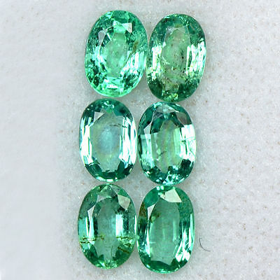 2.77 Cts Natural Top Green Emerald Oval Cut Lot Untreated Zambia 6x4 mm Gemstone