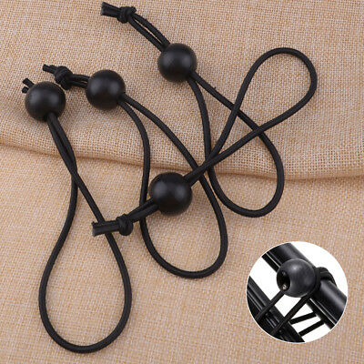 4 Pieces Ball Ends Flag Pole Clip Bungee Ties Cord Elastic Rope Attach Windsock