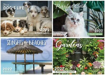 2020 Calendars Gardens / It's A Dog's Life Sunsets Purrfect Cats Christmas Gift