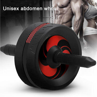 Exercise Wheel Double AB Roller Abs Abdominal Workout Fitness Machine Trainer AU