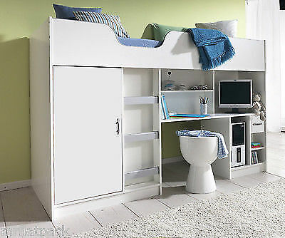 Lifestyle Cabin Single High Sleeper Childrens Kids Bed New White R140W2