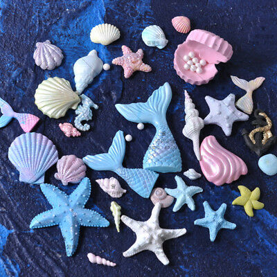 Silicone Fondant Mold Beach Sea Animals Cake Conch Seashell Summer Baking Mould