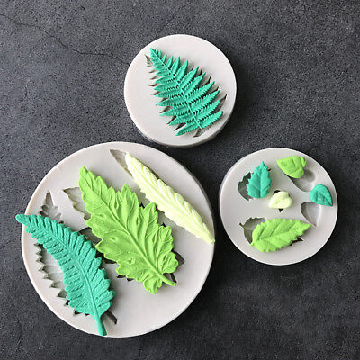 Leaf Silicone Fondant Mould Cake Plant Tree Flowers Leaves Chocolate Baking Mold