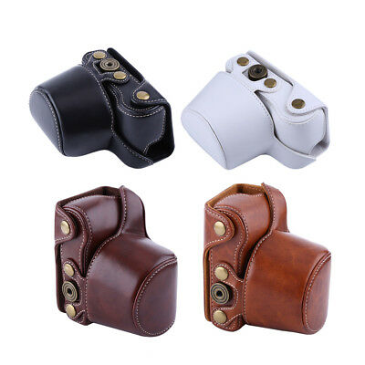 PU Leather Camera Case Bag For Sony A5000/A5100/NEX3N and 16-50mm Camera Lens a