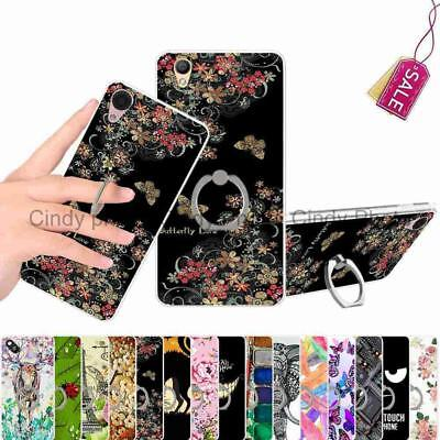 For OPPO A37 A37M Neo 9 Kickstand Ring Case Cover Animal Cat Feather Butterfly
