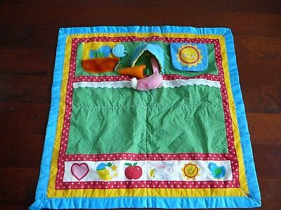 Vintage Classic Playskool Fold N Go Baby Infant Play Activity Mat Blanket EUC