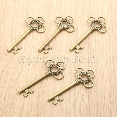 62*28mm Antique Bronze Skeleton Key Charms Pendant Findings Gift Jewelry Making