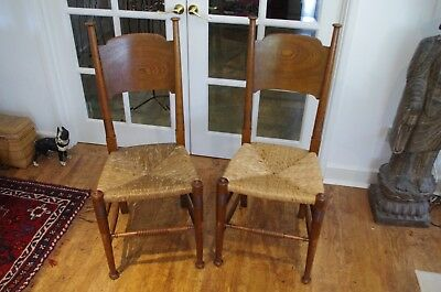 Pair of Arts and Crafts William Birch Chairs