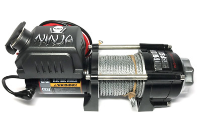 Warrior Ninja 2500lb 12v Atv / Trailer Winch. With free cover