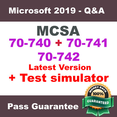 MCSA: Server 2016, Exams: 70-740, 70-741 & 70-742 Practice Q&A, PDF (2018)