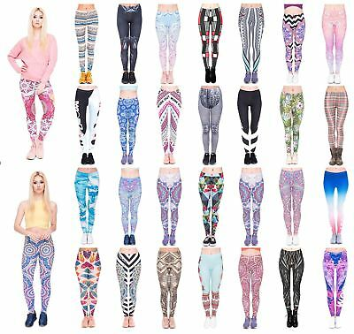 c2dd0c3d4598a Kukubird Women's Yoga Gym and Fashion Leggings Size 6-10 Stretchable