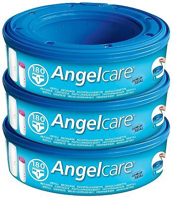 Angelcare Nappy Disposal System Refill Cassettes - Pack of 3 NEW