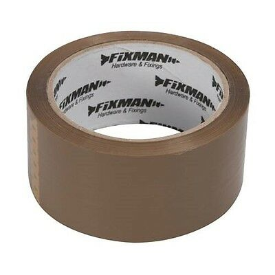 24 Rolls Adhesive Tape 66M Pack Band Package Quiet Robust Brown Fixman 190368