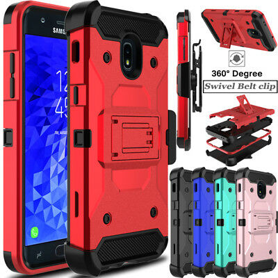 For Samsung Galaxy J7V 2018/Refine/Crown Phone Case Hybrid Clip Armor Hard Cover