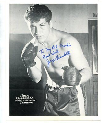 BOXING champ JOEY GIARDELLO autograph HAND SIGNED 704