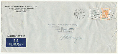 Hong Kong 香港 Qeii # 190, 194 Cover To West Germany Airmail (1958)