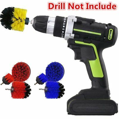 Power Scrubber Brush Set For Cleaning Bathroom Kitchen Tiles Cordless Drill 3pcs