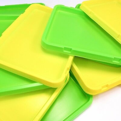 2 x Plastic Trays for Arts & Crafts  -  (1 green and 1 yellow,  or 2 yellow )