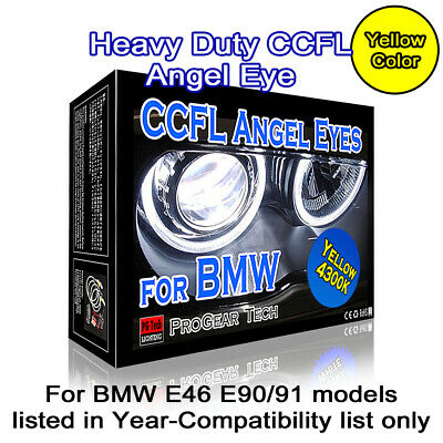 Heavy Duty White 7000K BMW CCFL Angel Eyes Halo Rings E46 E90 E91 non projector