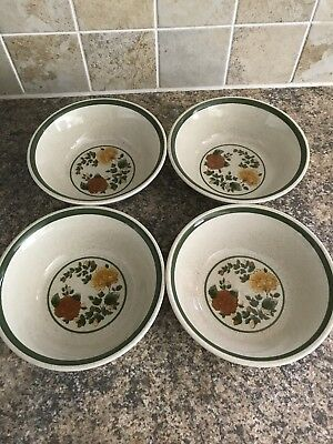 Royal Doulton Autumn Morn Cereal Bowls ...set Of 4