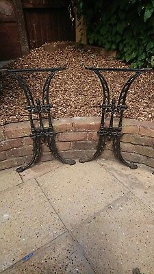 Cast iron vintage table legs / base