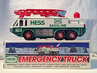 Hess Emergency Truck~1996 ~New In Box~ Siren~Horn~ All Lights Tested And Work!