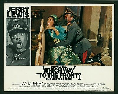 Which Way To the Front? original 1970 lobby card 11x14 Jerry Lewis Jan Murray