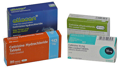 Cetirizine Hayfever Allergy Relief 10mg (12 x 30 = 360) Antihistamine Tablets