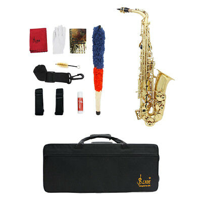 Professional 1 Set Gold Plating Brass Eb Key Sassofono contralto Golden Sax