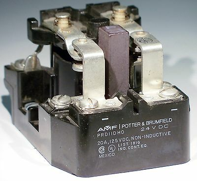 Potter & Brumfield PRD11DHO-24 Power Relay, Non-Latching, 24VDC 20A, DPDT