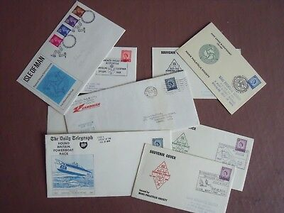 Isle Of Man, Nine  Commemorative Covers, 1969 To 1972, Inc First Flight Cover
