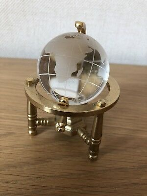 Lovely Collectible And Decorative Globe On Solid Brass Frame