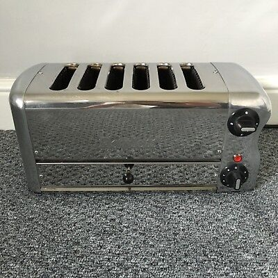 Rowlett Rutland 6 slice toaster commercial catering industrial cafe steel