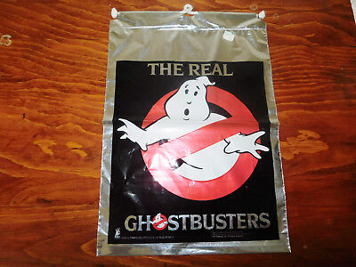 1986 The Real Ghostbusters Draw String Gift Bag Carrousel Products