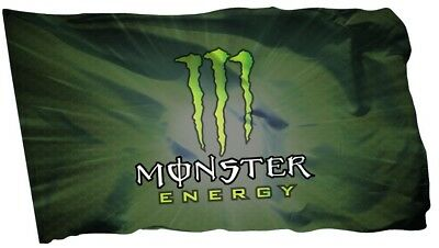 Monster Flag Banner 3 x 5 ft Energy Drink Man Cave Bar Power USA seller shipper