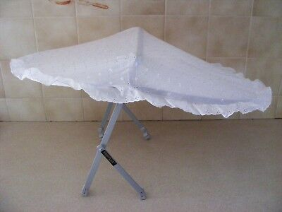 NEW Universal BRODERIE ANGLAISE SUN CANOPY for Buggy/pushchair (fits 15mm frame)