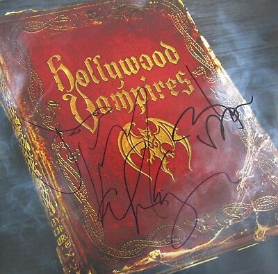 Hollywood Vampires Autogramme Johnny Depp Alice Cooper Perry signiert DLP Same