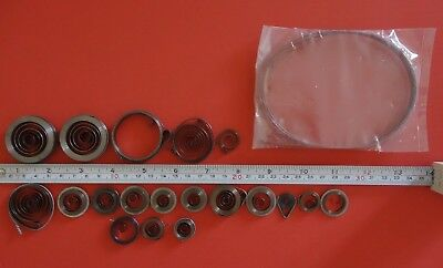 Job-lot-20-Clock-Mainsprings-all-new-assorted-sizes