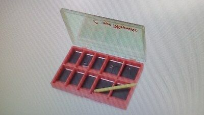 #267s STONFO 10 Compartment Magnetic Bottomed Box for Hooks  FLY TYING