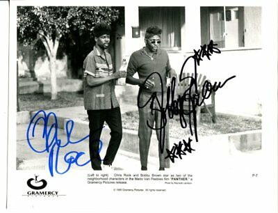 CHRIS ROCK & BOBBY BROWN autograph HAND SIGNED 808