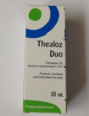 THEALOZ DUO EYE DROPS protects, hydrates and lubricates the eyes 10ml