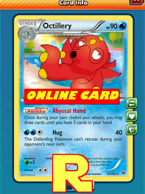 Octillery SET (Draw Support) - for Pokemon TCG Online ( ptcgo in Game Card)