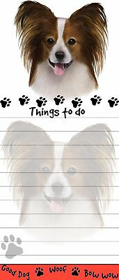 Papillon Magnetic Post It Dog Breed Stationery Notepad