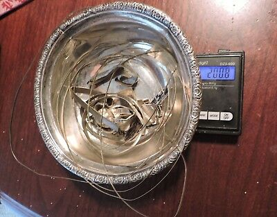 200 grams Scrap Sterling Silver Bowl & Jewelers Scrap / Bezel
