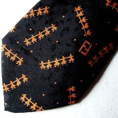 CRAVATTA UOMO vintage 70's (TIE) FENDI cravatte made in Italy New!  rare