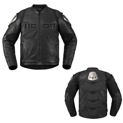 Icon Timax Leather Riding Motorcycle Street Jacket