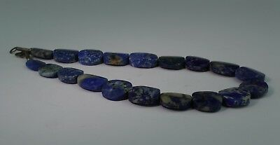 Large Ancient Carved Lapis Bead Necklace - No Reserve 01211